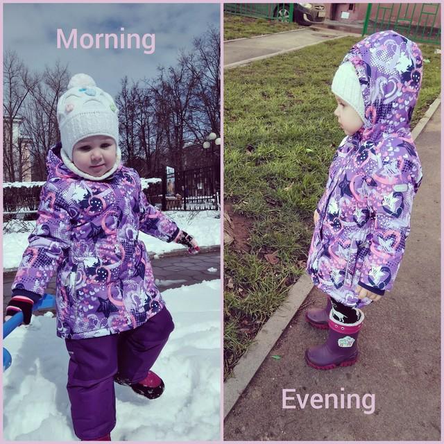 Утро vs вечер)