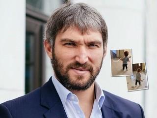 По папиным стопам: годовалый сын Александра Овечкина готовится стать хоккеистом