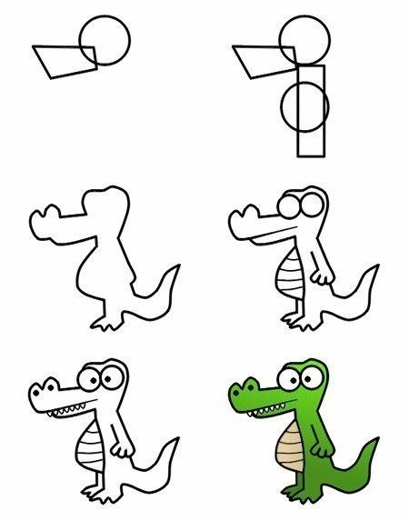 Рисуем мультяшных зверюшек поэтапно
