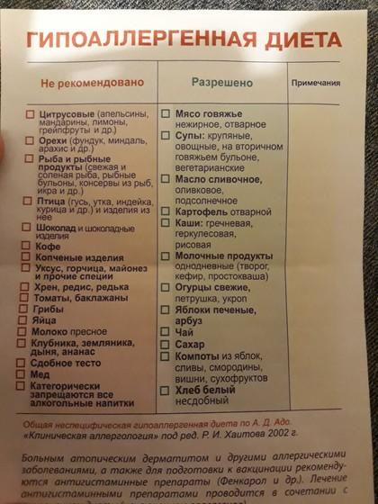 Гипоаллергенная Диета Сосиски.
