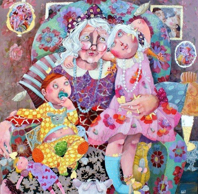 Прикольные картинки бабушка и внучка