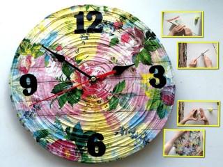 Мастер-класс: делаем настенные часы из старого журнала