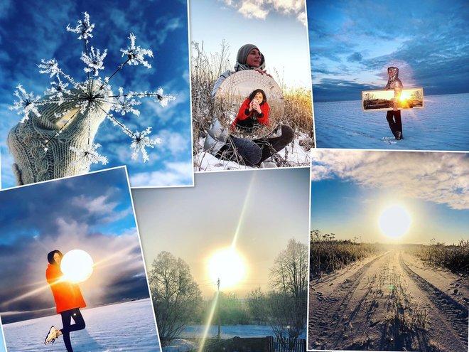 Любовь Толкалина с дочерью Марией провели Рождество в селе Савватьма Рязанской области