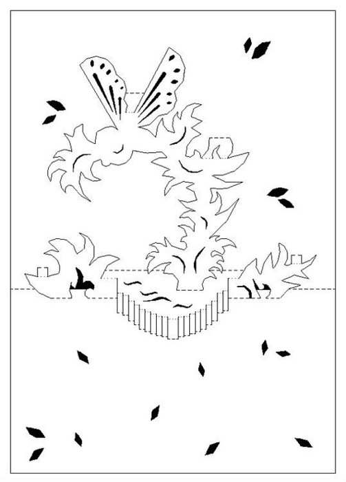 Свадебные открытки из бумаги своими руками схемы шаблоны, добрым