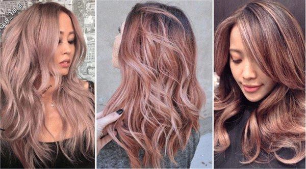 Пепельный розовый блонд