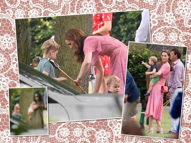 Группа поддержки: Меган Маркл и Кейт Миддлтон с детьми пришли на королевский матч по поло