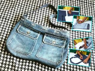Мастер-класс по изготовлению сумки из старых джинсов