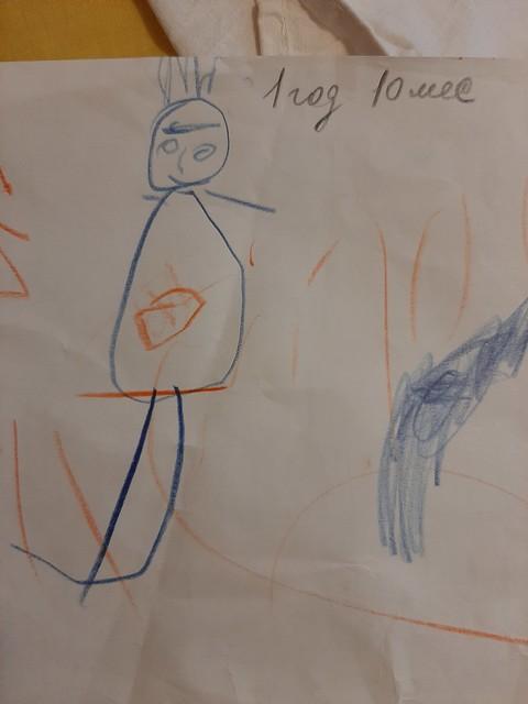 Ребенок нарисовал маму) нам 1 год 10 мес.