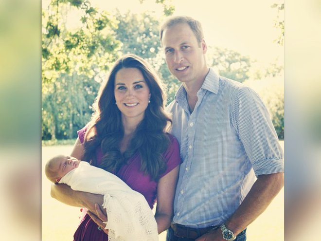 Официальный портрет принца Джорджа в 1 год рождения