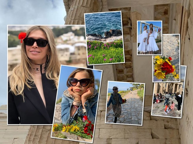 Греческие каникулы: Вера Брежнева опубликовала трогательные фото с дочкой Сарой из отпуска