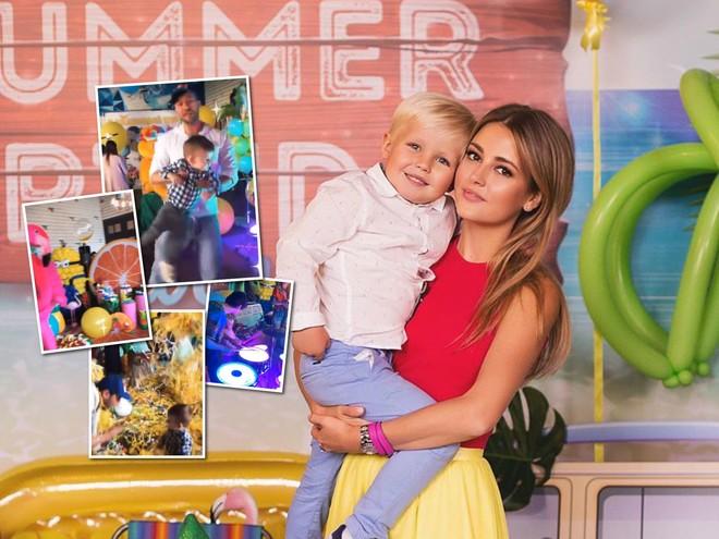Видео: сын Анны Михайловской весело отпраздновал день рождения в компании звездных друзей