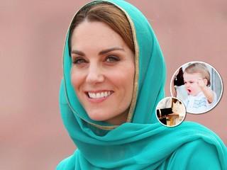 Кейт Миддлтон везет принцу Луи подарок, который выше его роста