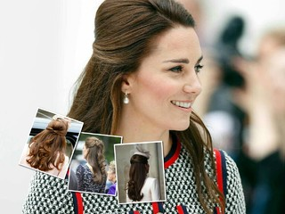 Привет, 90-е: Кейт Миддлтон использует аксессуар для волос, с которым легко сделать красивую прическу