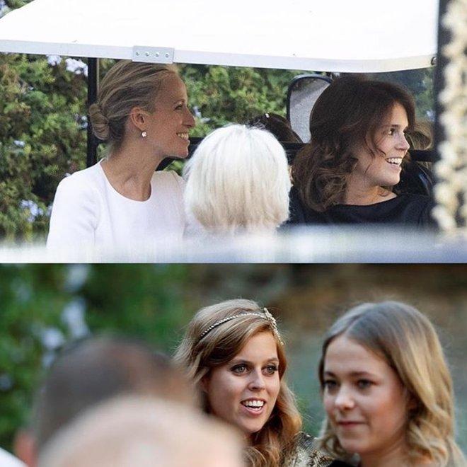 Принцесса Евгения и принцесса Беатрис на свадьбе дизайнера Миши Нону