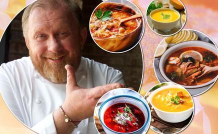 5 супов: шеф-повар Константин Ивлев поделился фирменными рецептами ароматных зимних обедов