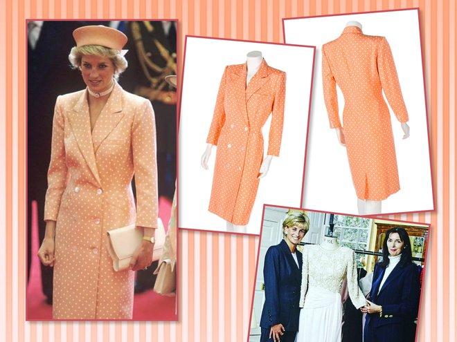 Персиковое платье-пиджак принцессы Дианы от Кэтрин Уолкер