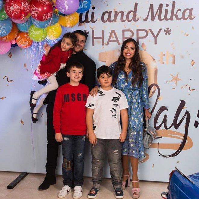 Эмин Агаларов и Лейла Алиева с детьми