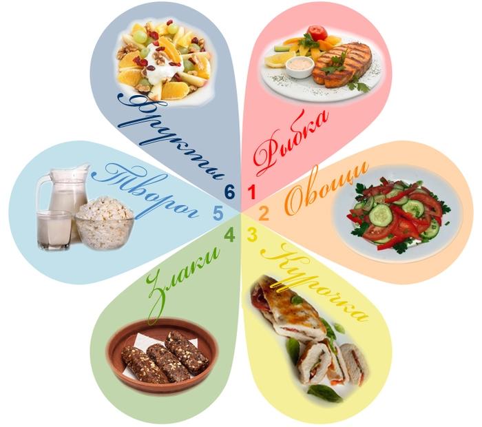 диета на подобии 6 лепестков