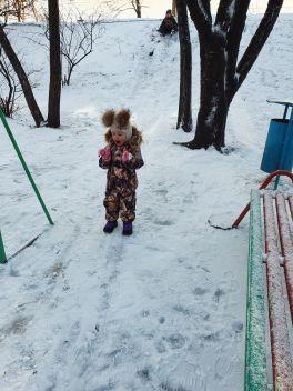 Первый снег🥳💥Наигрались в снежки,лепили