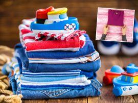 Лайфхак, с помощью которого даже малыш научится складывать свою одежду