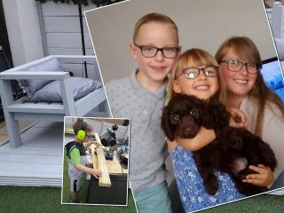 «Невероятный результат»: 7-летний сын помог маме построить самодельный диван, сэкономив семейный бюджет