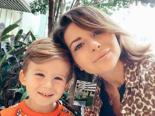 3-летний сын Галины Юдашкиной стал футболистом