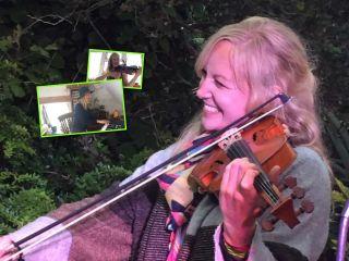 Сама себе оркестр: британка каждый день делится видео, где исполняет все партии за музыкантов