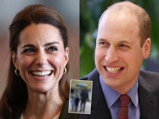 С папой под одним зонтом: Кейт Миддлтон и принц Уильям показали еще один необычный портрет с детьми