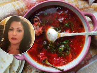 С каждым днем только вкуснее: Анна Нетребко поделилась семейным рецептом борща с фасолью