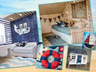 Штурвалы, рыбы, якоря: как бюджетно оформить детскую комнату в морском стиле