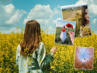 Идеи для фото в цветочном поле: ловите момент, пока вокруг такая красота