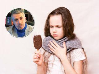 Доктор Комаровский рассказал, можно ли пить холодное при лечении горла во время простуды