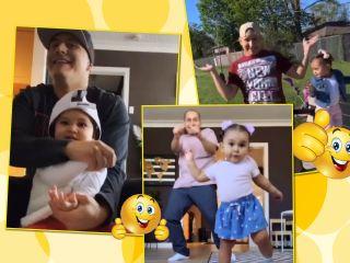 Веселая парочка: папа и его 1,5-годовалая дочка прославились в Сети благодаря своим танцам