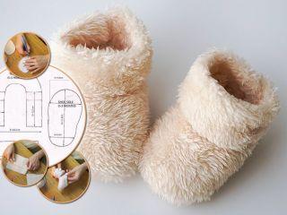 Держим ножки в тепле: как сшить меховые пинетки для малыша от рождения до года
