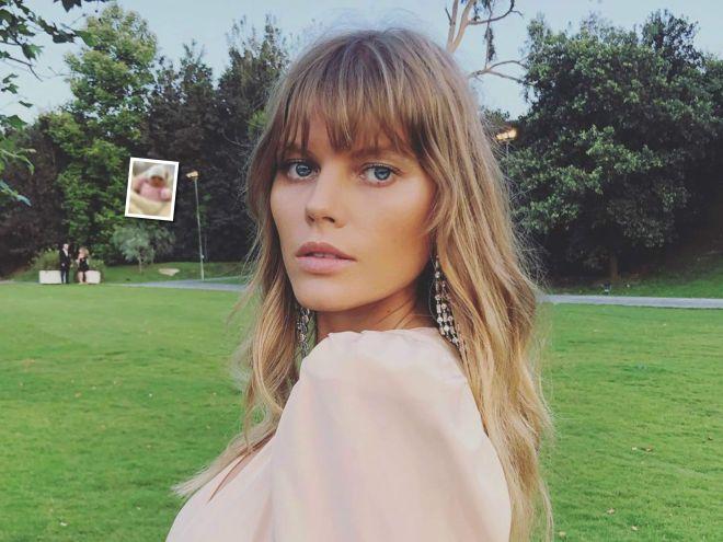 Совсем кроха: топ-модель Марина Линчук впервые показала лицо новорожденной дочки
