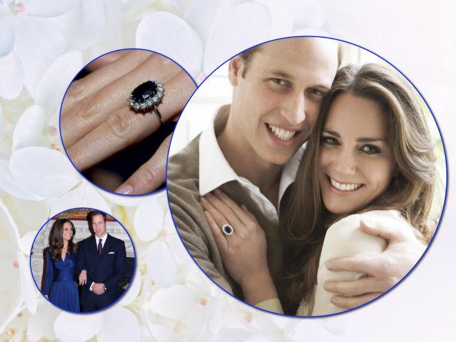 Тогда и сейчас: как менялось легендарное кольцо на помолвку Кейт Миддлтон