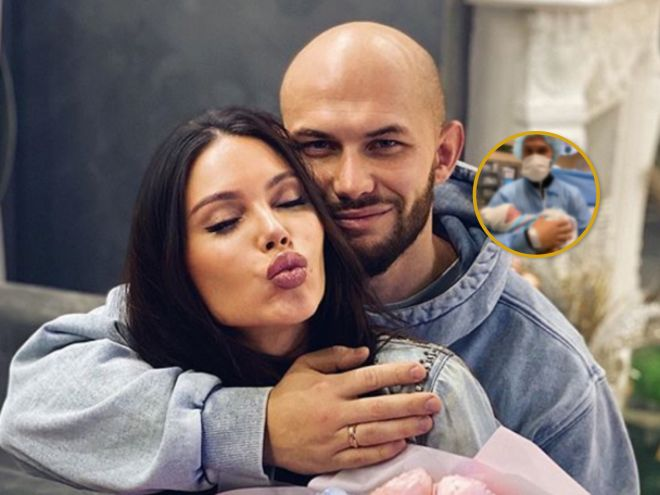 Это мальчик! Оксана Самойлова и Джиган впервые показали новорожденного малыша