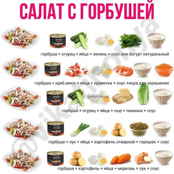 Рецепты салатиков с горбушей